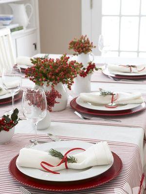 Yemek masalarında kırmızı şıklığı