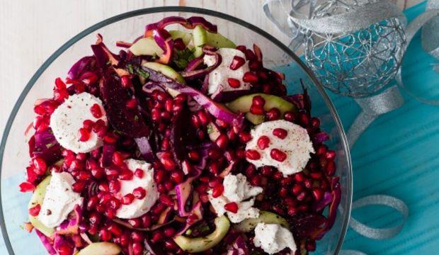 Kırmızı kış salatası