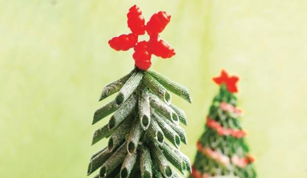 Yılbaşı ağacınızı makarnadan yapın!