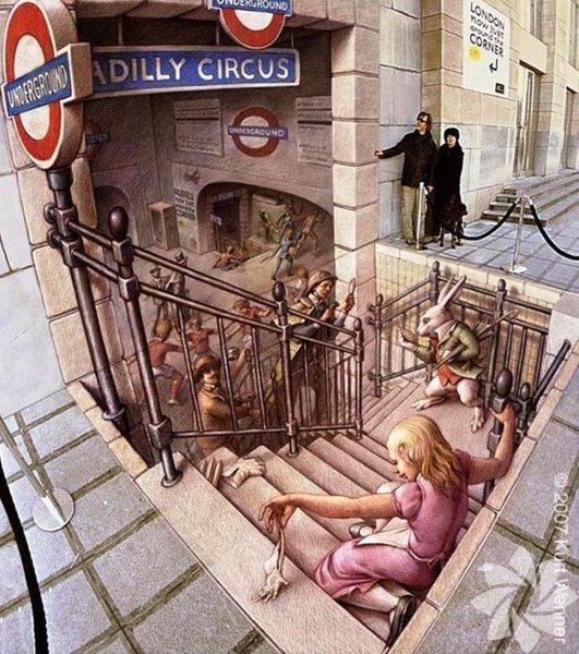 3D sokak sanatı örnekleri