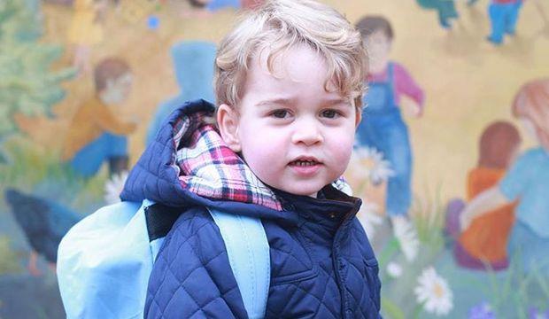 Kate Middleton'ın oğlu anaokuluna başladı!