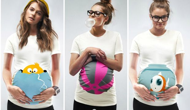 En eğlenceli hamile tişörtleri