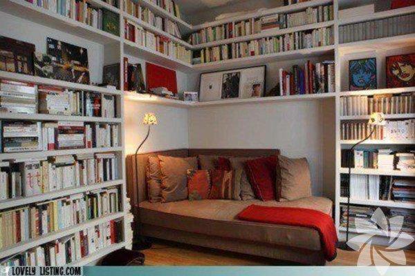 Uykunuzu kaçıracak kitaplıklar