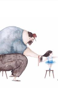 Baba kız ilişkisinin en sevimli hali