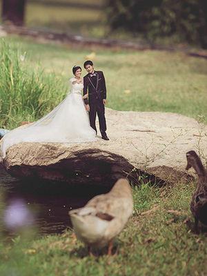 Minyatür düğün fotoğrafları