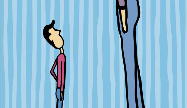 Kısa boylu erkeklerin...
