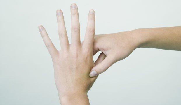 Parmağınızı 5 saniye buraya bastırınca...