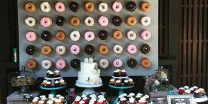 Düğünlerde yeni trend: Donut duvarı