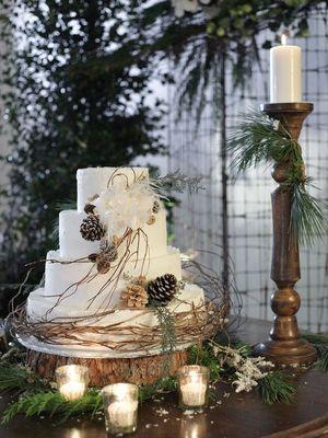 2017 kış düğünü pastaları