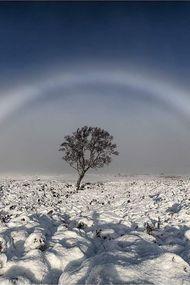 İskoçya'da beyaz gökkuşağı görüldü