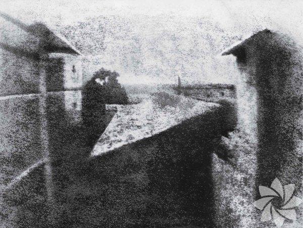 Le Gras'a pencereden bakış, Joseph Nicéphore Niépce, 1826