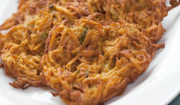 Körili tatlı patatesten krep