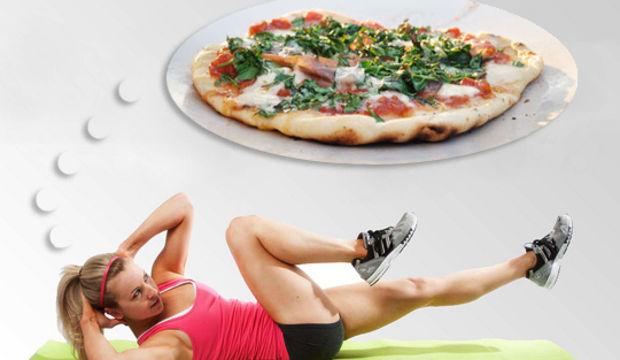 Nasıl olsa spor yapıyorum, bir dilim pizzadan bir şey olmaz…