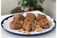 Fıstık ezmeli muzlu vegan kurabiye