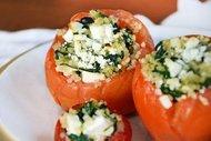 Ispanaklı domates dolması
