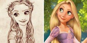 Disney karakterleri orijinal çizimleri