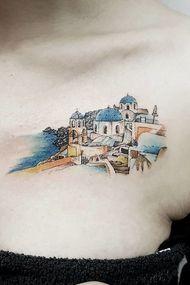 Birbirinden şık mimari dövmeler