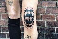 En şık diz kapağı dövmeleri