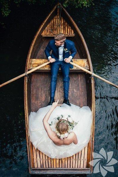 Drone ile çekilen düğün fotoğrafları