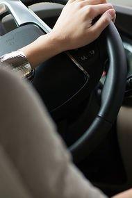 Trafikte kadın hali