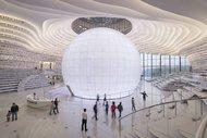 Çin'deki beyaz kütüphane büyülüyor