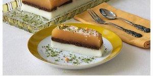 Portakal pelteli bisküvili muhallebili pasta