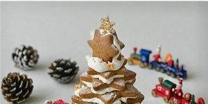 Zencefilli çam ağacı kurabiyeler