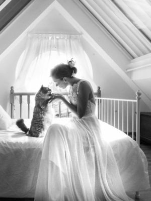 Düğün fotoğrafını kedinizle çektirir miydiniz?