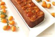 Kumkuatlı labneli alt-üst kek