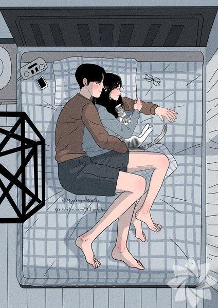 Aşk, güvenle uyuyabilmektir.